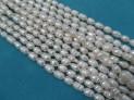 Říční perly bílé 10x6 mm šňůra perel č.8