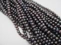 Říční perly černé 8 mm šňůra perel