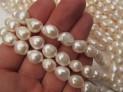 Říční perly bílé 9x11/12 mm šňůra perel ...