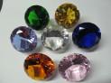 Broušený skleněný diamant 100 mm imitace