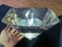 Broušený skleněný diamant 300 mm imitace