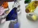 Broušený skleněný diamant 150 mm imitace