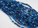 Achát modrý pruhovaný extra kuličky šňůra