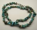 Tyrkys pravý náhrdelník 47 cm z tromlova...
