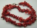 Korál červený náhrdelník 47 cm z tromlov...