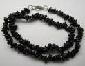 Turmalín černý náhrdelník 47 cm z tromlo...