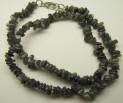 Labradorite necklace 47 cm with carabin ...