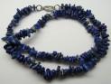 Lapis lazuli necklace 47 cm with carabin...