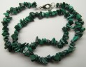 Malachite necklace 47 cm with carabin cl...