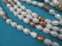 Říční perly bílé se světle hnědou 11x7 m...