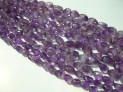 Amethyst faceted tumble 15x20 mm string
