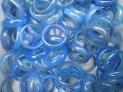 Prstýnek modrý chalcedon