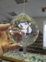 Feng shui crystal ball 100 mm with strun...