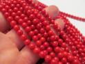 Korál červený kuličky