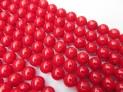 Korál červený kuličky 8 mm šňůra