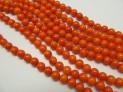 Korál oranžový pomerančový kuličky 7-7,5...
