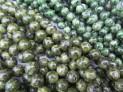 Serpentinit-nefrit kuličky šňůra