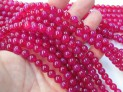 Agate pink extra round 8 mm beads