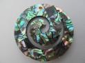 Přívěšek z paua mušle mosaic spirála 40 mm