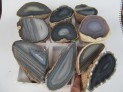 AA-Agate half polished - 10 pcs lot No.3