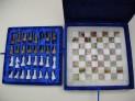 Šachy zeleno - bílé onyx Pákistán 30x30 cm.