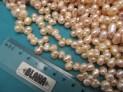 Říční perly růžové 8x7 mm šňůra perel č.2