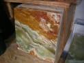Deska onyx Pákistán 30x30x1 cm.