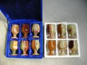Pohárky střední onyx Pákistán 6,2 x 10 cm