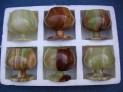 Pohárky sada 6 ks onyx Pákistán 10x10 cm