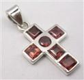 Garnet pendant cross 3567