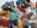 Pendants tumbled stone 50 pcs mixed in bag